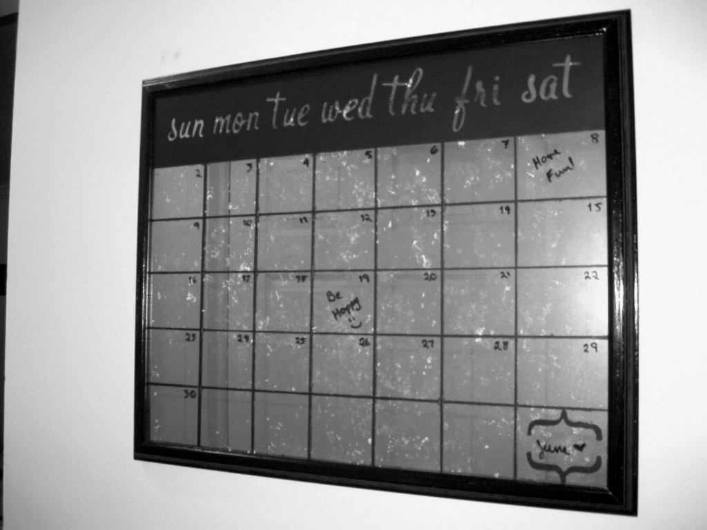 DIY Faux Mercury Glass Calendar - Mrs. Fancee